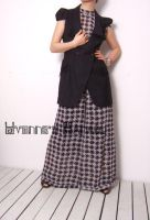 Black White Checked Jumpsuit10 by yystudio