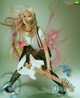 Avril and her Guitar by gEmBeLz