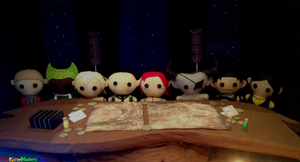 Dragon Age Plushes: War Table Meeting by AkaKiiroMidoriAoi
