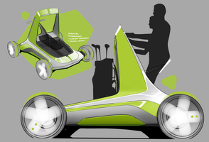 Golf Buggy Concept - Development renders by bradders31