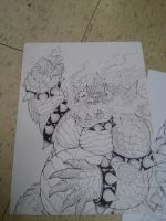 Mario vs Bowser-WIP by TheWolfMaria