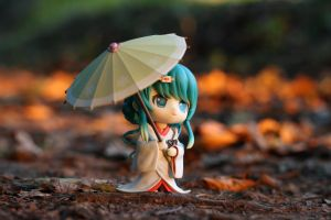 Miku in the wood by Adelram