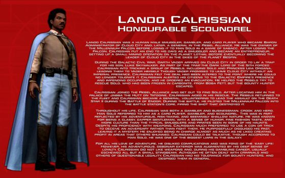 Lando Calrissian character bio [New] by unusualsuspex