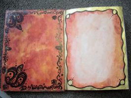 Inside Cover and Page one by ak-attack