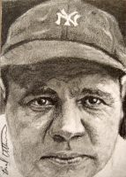 Babe Ruth sketch card by therealbradu