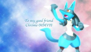 Lucario gift (Chrome-MMVII) by Flitzalys