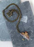 Little Waxwing bird necklace by Shalladdrin