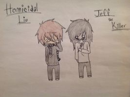 Homicidal Liu and Jeff the Killer chibis by Ultimate-Volt