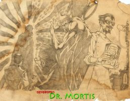 boceto-lapiz dr mortis by LazaroComics