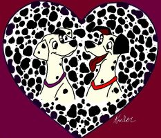 Dalmatian Love by androtech95