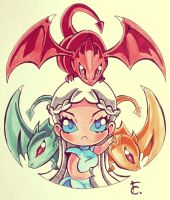 Chibi Daenerys - Game of Thrones by RandeVouz