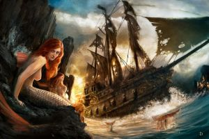 Mermaids atoll - The lost ship by DaniNaimare