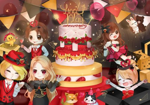 Line Play 4th Anniversary Party! by ElissaVienna