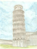 The Leaning Tower of Pisa by Charis