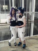 Vinyl Scratch and Rarity cosplay by Tinderboxer