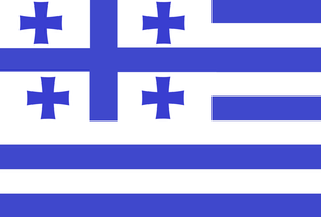 Georgia and Greece flag by KarevaUSSR