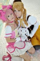 Madoka and Mami by Phadme