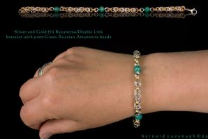 Silver Gold and Amazonite by horai
