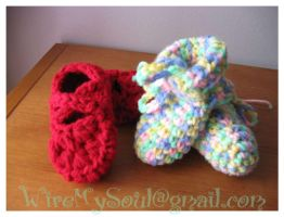 Booties for Peanut by WireMySoul