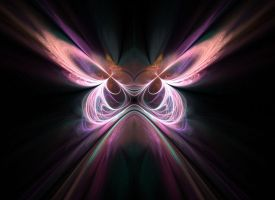 Fractal Butterfly Wallpaper by barefootphotos