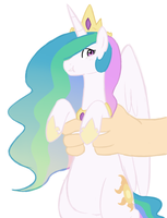 Extirpate-It Ezekiel holding Princess Celestia by Elslowmo