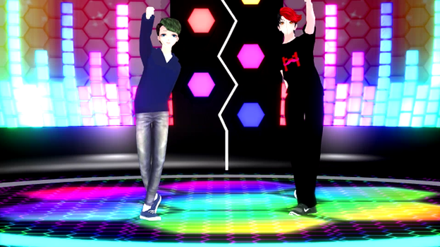 MMD Markiplier and Jacksepticeye by percephine