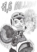 MIGHTY No9 - PASSING 1.6 - GRAYSCALE by mdkex