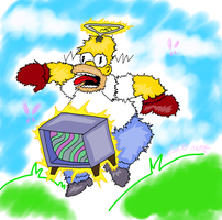 Homer the tellyblubby by Tigersrock144
