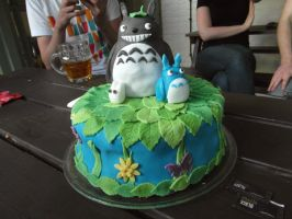Totoro Birthday Cake by TuthFairy