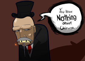 The Man with the Tophat Knows by BlackSen