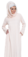 Lucia Light Pink Lace Islamic Maxi Dress Abaya 1 by jabernoimi