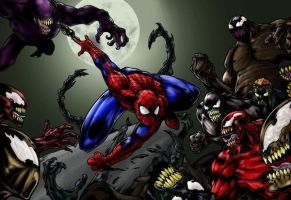 SPIDER-MAN VS THE SYMBIOTES by CRYPTID-MAN
