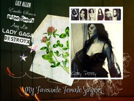 My Fave Female Singers by IrisVampyria