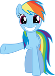 Smile And Wave - Rainbow Dash by TomFraggle