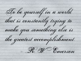 be yourself by rajasegar