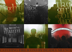 Catching Fire Icons by deadlysilence16