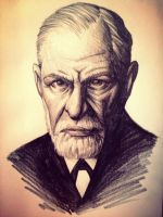 Sigmund Freud Sketch by gelipe