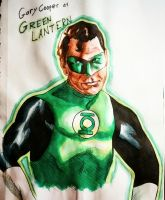 Gary Cooper- Green Lantern by stinson627