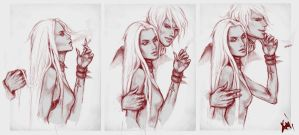 Ren and White by KAIcreator