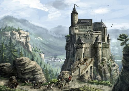 Highlands castle. by K-Kom