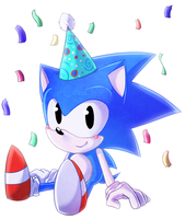 Happy Birthday Sonic! by GoldenTigerDragon