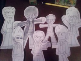 Eddsworld paper cutouts by MochaTheDog