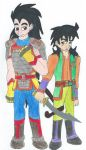 Dragon Ball Guild: Raditz and Yamcha by Kereea