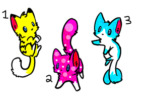 Adoptables Cats -CLOSED- by LightBlueSilver100