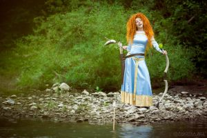 Merida, fishing by shua-cosplay