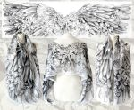 Angelic Wings silk scarf by MinkuLul