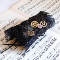 Steam Punk Lace Wrist Cuff by RagDolliesMadhouse