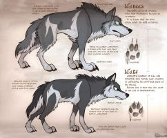 Hyrulean Bestiary - Wolf and Wolfos by Snowsilver