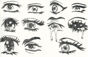 manga eyes by lawlietlara