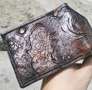WOW Azeroth map Leather Wallet by Bubblypies